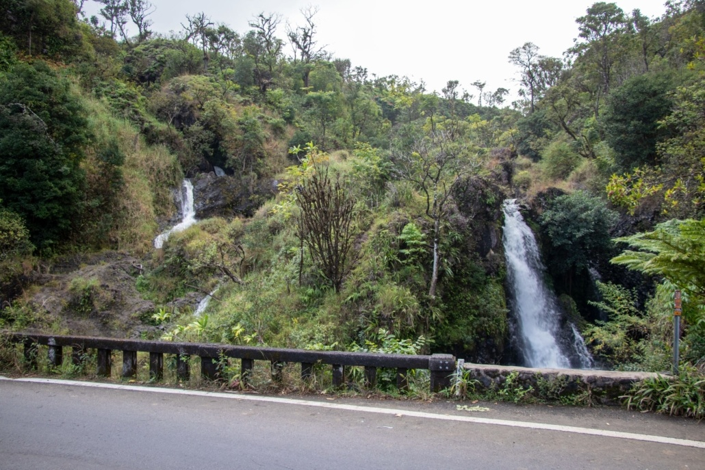 Multiple Hana Highway Waterfalls