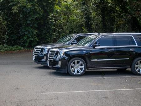 Parked Tour Cadillacs