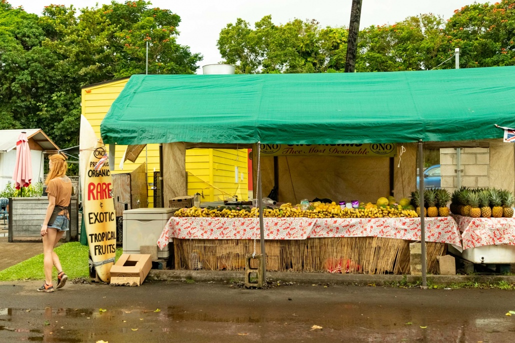 Fruit Stand in Hana Town Maui