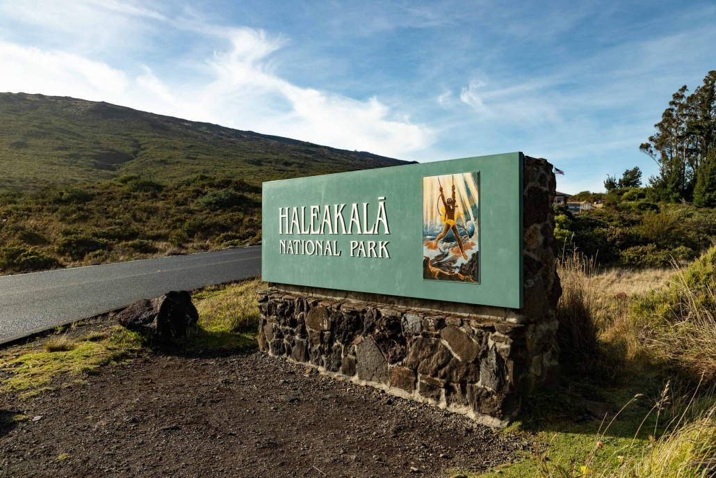 Haleakala National Park Entrance Sign Maui