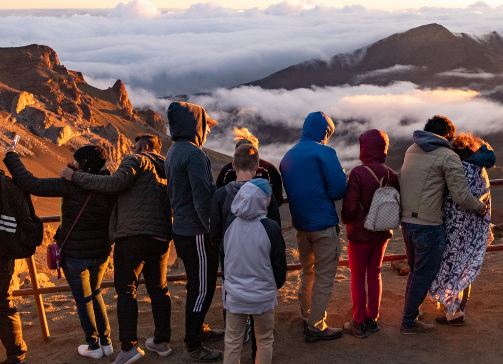 Haleakala National Park Summit Railing Crater Visitors Maui