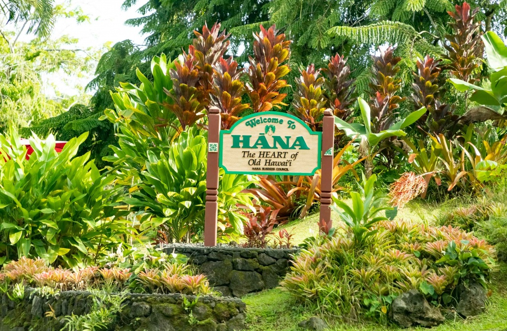 Hana Town Sign Road To Hana Maui