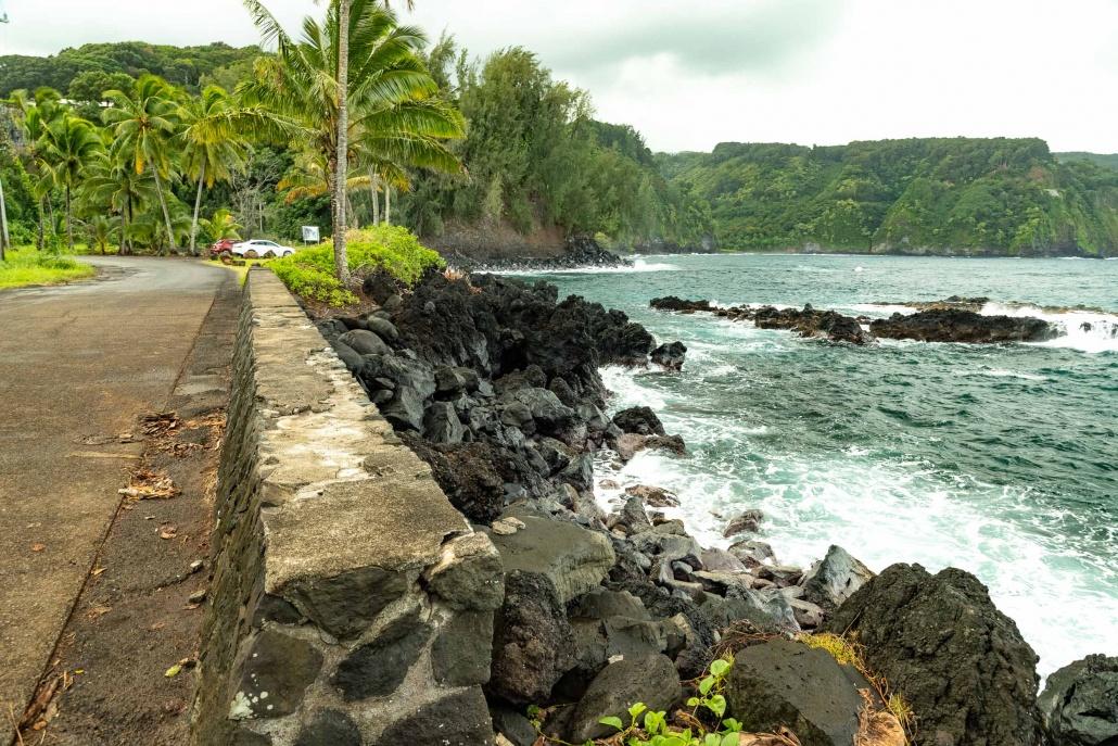 Keanae Peninsula Stone Wall Road to Hana Maui