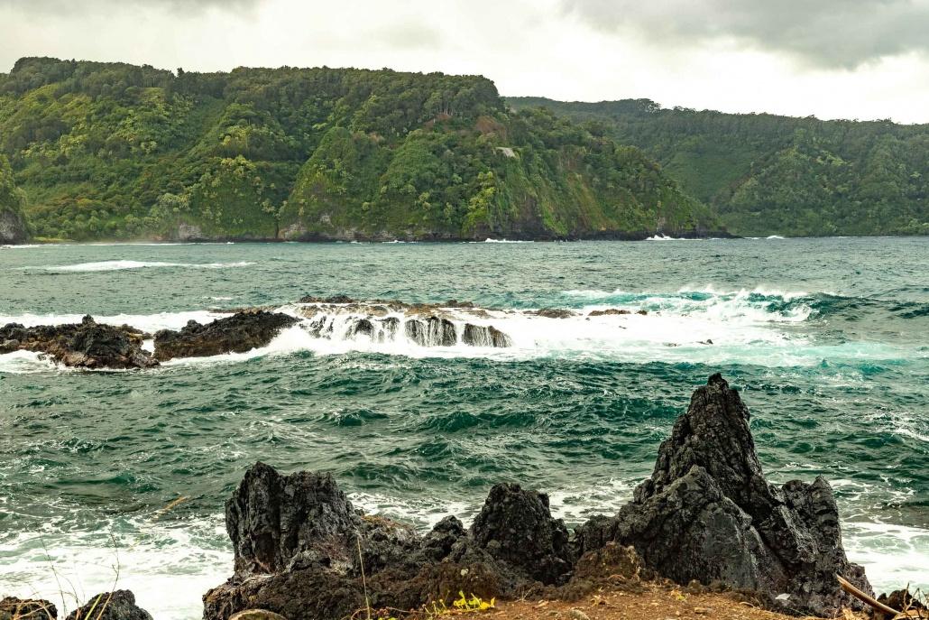 Keanae Peninsula View of Cliffs Road to Hana Maui