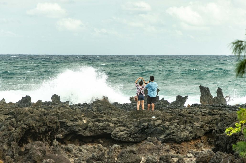 Keanae Peninsula Visitors Heart Hands Road to Hana Maui