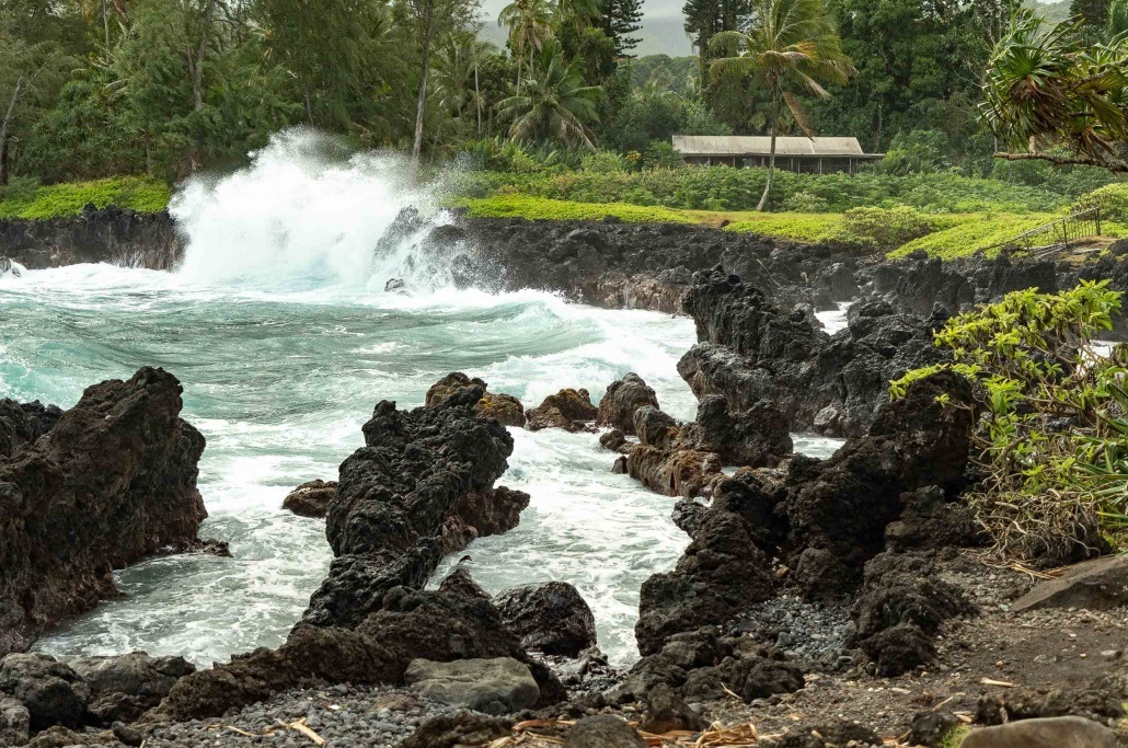 Keanae Peninsula Waves Crash Road to Hana Maui