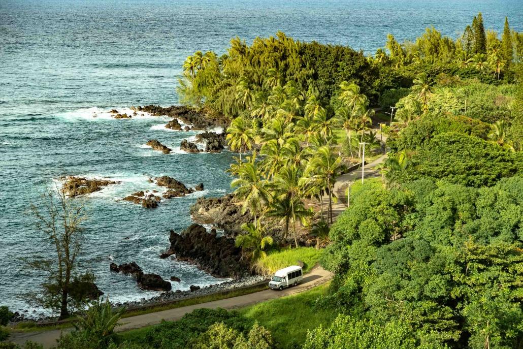 Keanae Peninsula and Tour Van EX Road to Hana Maui