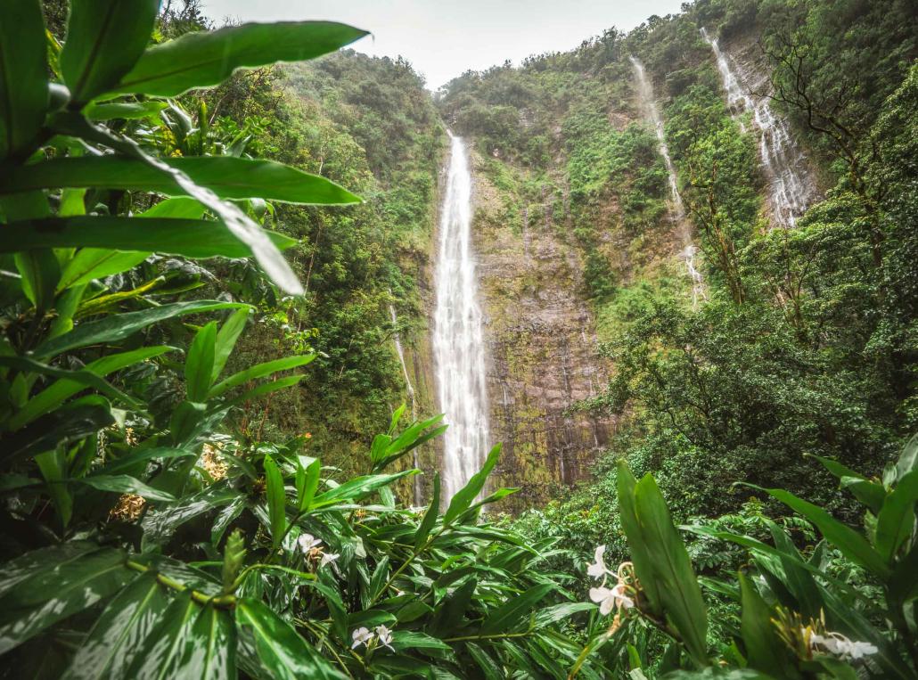 Pipiwai Trail Upper Waterfall Waimoku Falls Road to Hana Maui