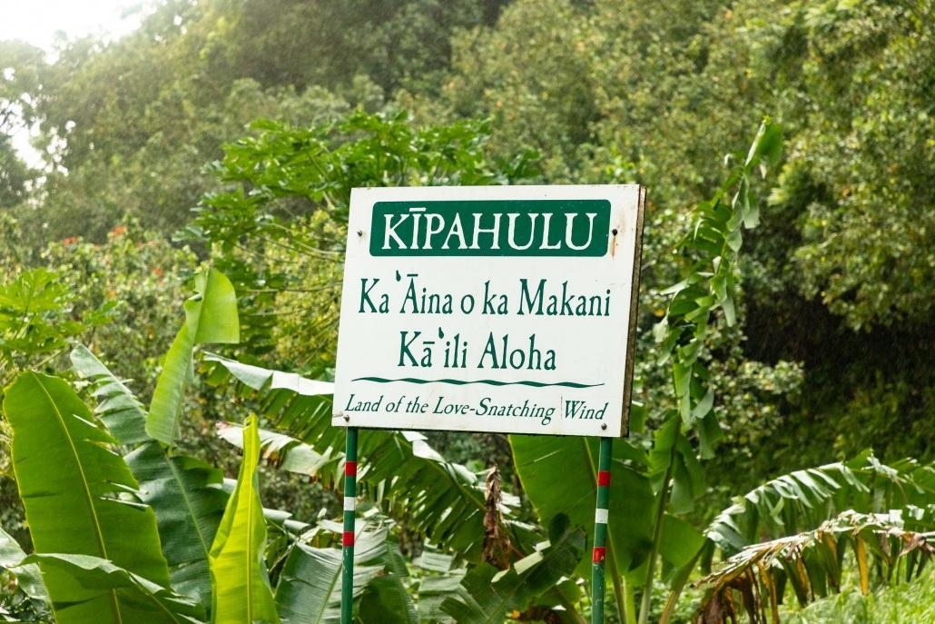 Pools of Oheo Kipahulu Meaning Sign road to Hana Maui