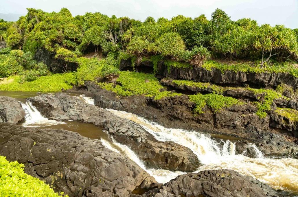 Pools of Oheo Lower Falls Stream Kipahulu road to Hana Maui