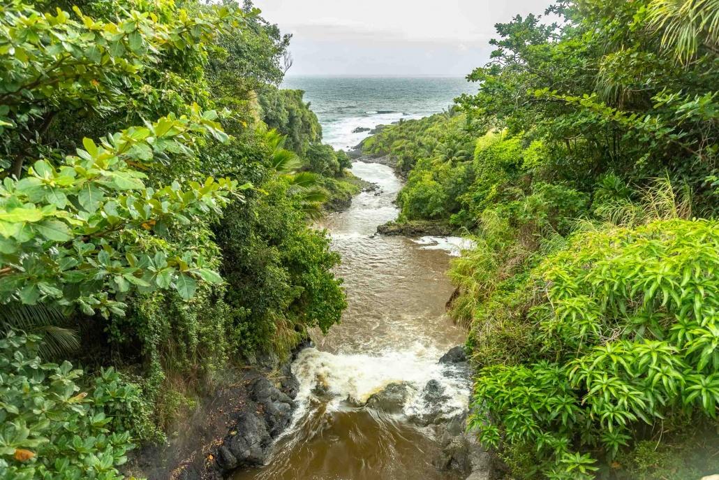 Pools of Oheo View from Bridge Kipahulu road to Hana Maui