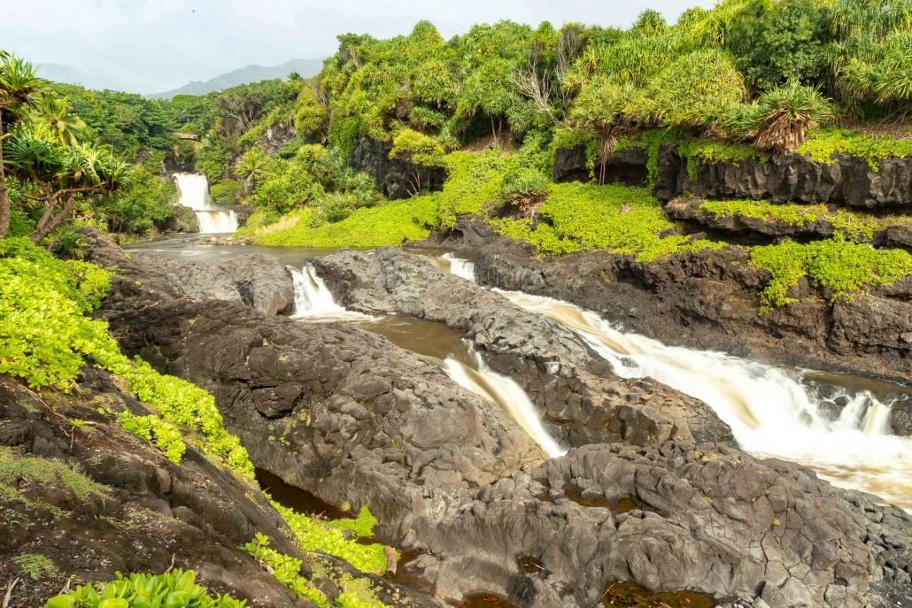 Pools of Oheo Waterfalls and Stream EX Kipahulu road to Hana Maui
