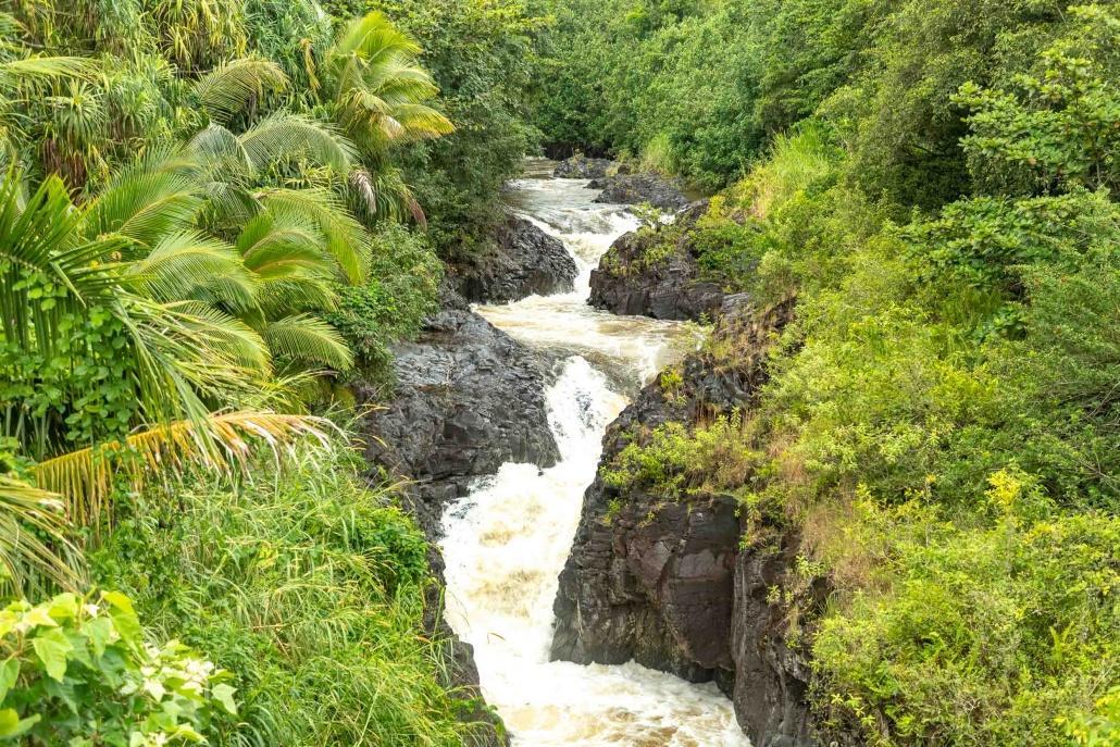 Pools of Oheo upper stream Kipahulu road to Hana Maui