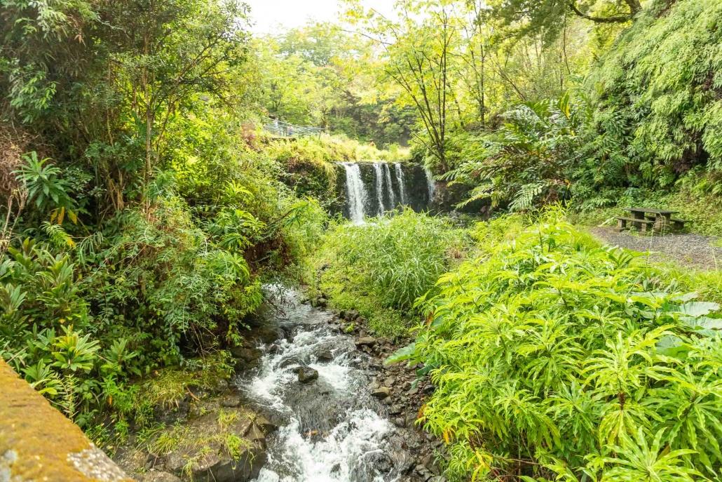 Puua Kaa Wayside Park Lower Waterfall and Stream Road to Hana Maui