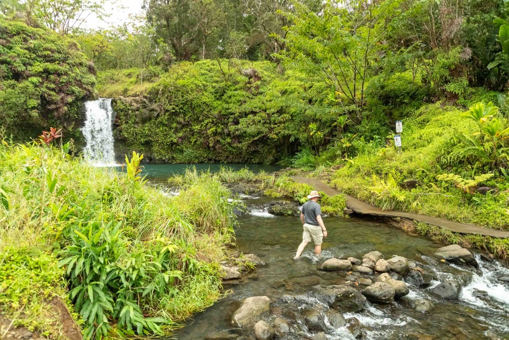 Puua Kaa Wayside Park Stream Crossing Road to Hana Maui