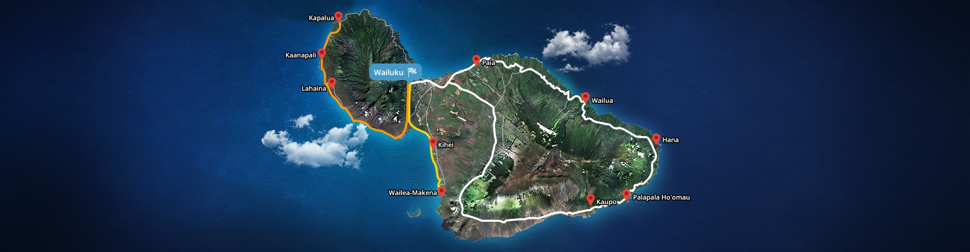 Small Group Road To Hana Tour Map