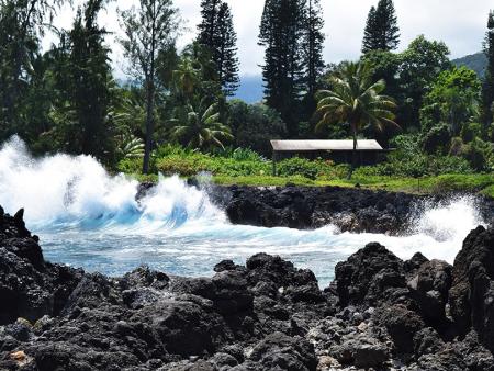 Hana Tours Of Maui Group Circle Island Hana Tour Balck Sand Beach