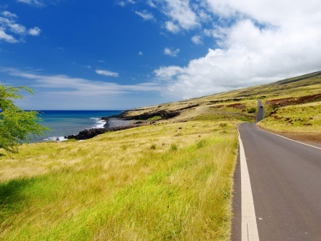 open grasslands and deep canyons dominate Maui's southeast side