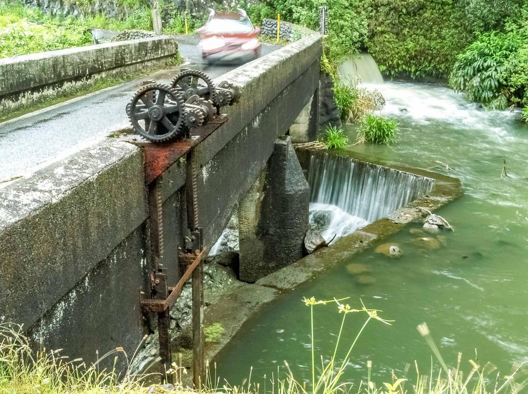 Irrigation transfer at Hana highway bridge east Maui