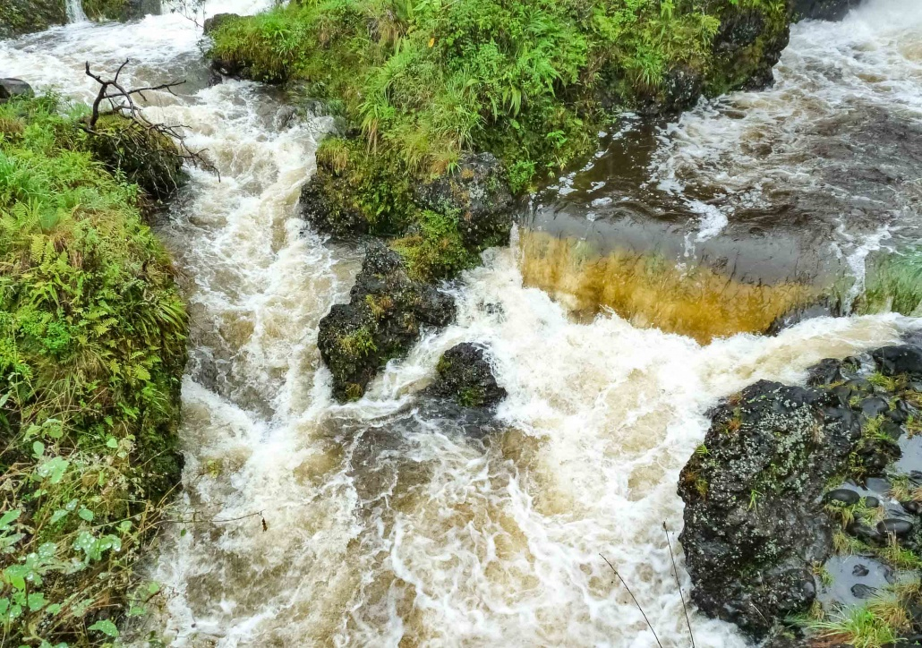 Surface Water flows in east Maui
