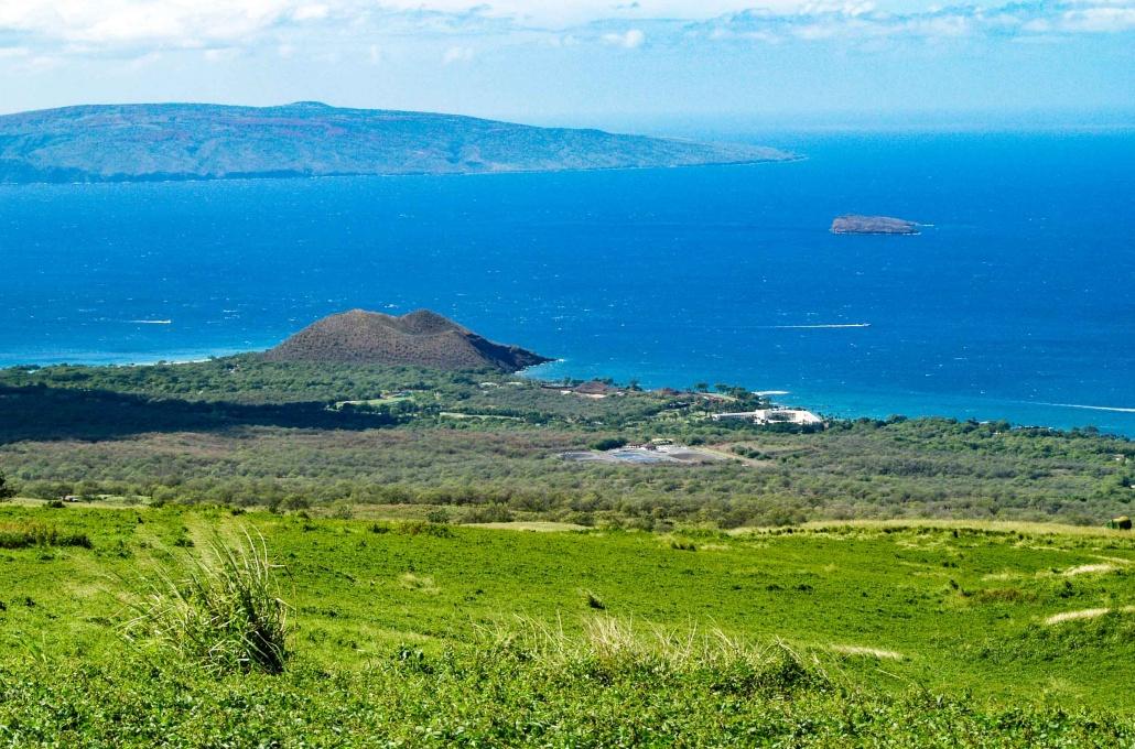 Ulupalakua View Of Molokini and Kahoolawe above south Maui hotels
