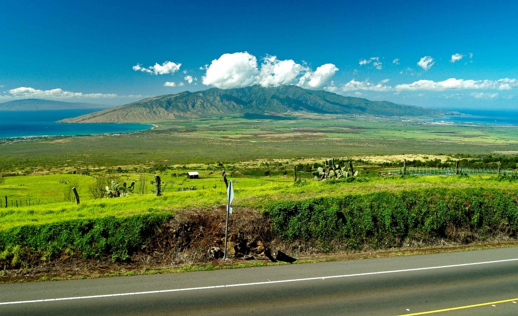 Views of the West Maui Mountains as seen from Kula