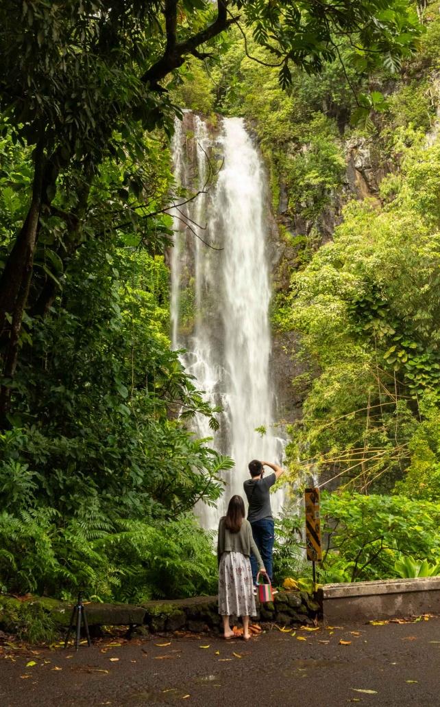 Photographers love Hana highway waterfalls South Wailua