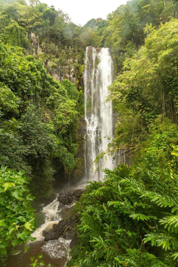 West Wailua Highway waterfall winter