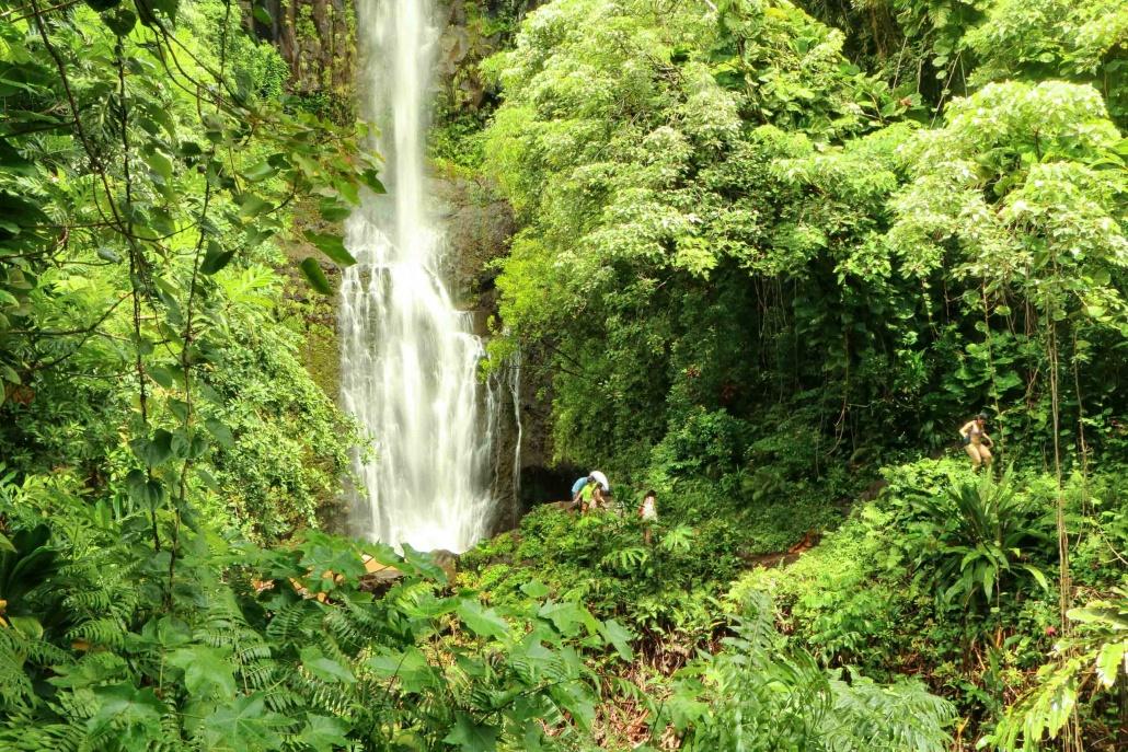 family venture to the base of South Wailua Waterfall Hana Maui