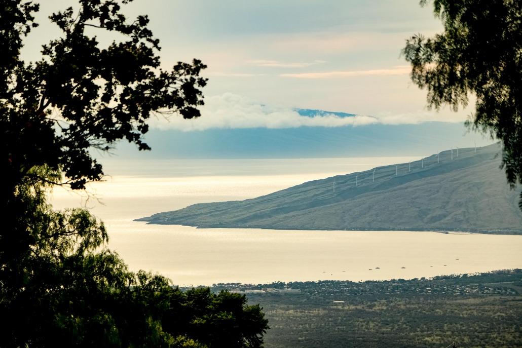 Kula views of West Maui Windmills and Maalaea Bay
